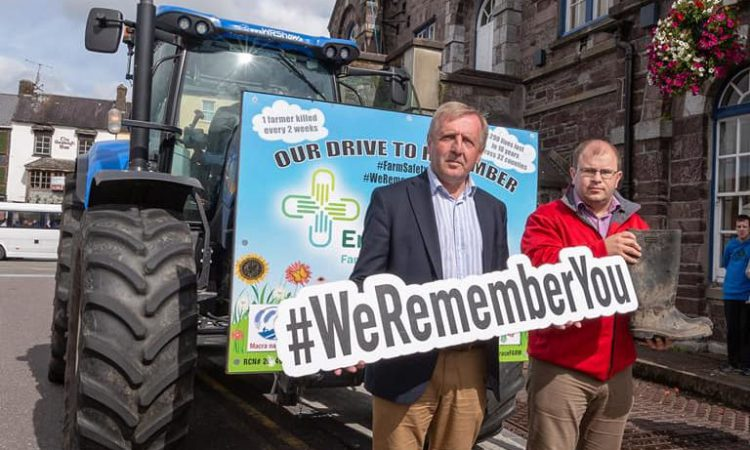 Minister and Macra president welcome Embrace tractor in Macroom