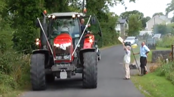 Off to marry in a Massey: Bride drives to wedding in style