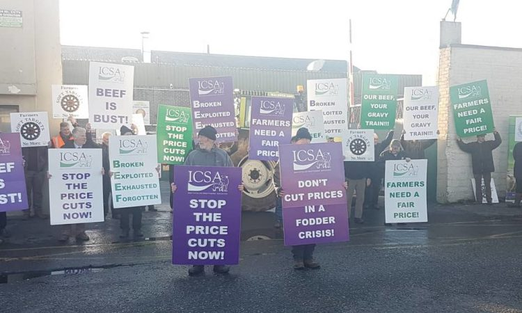 Farmers outline demands at Dawn Meats factory gates