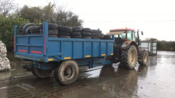 Almost 800 farmers drop off tyres in Athenry for biggest turnout yet