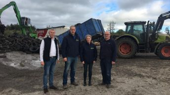 900t of farm tyres arrive for last leg of recycling initiative