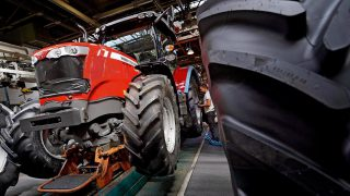 How many tractors were licensed in Ireland in August?