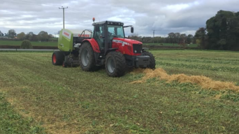 Video: Newfangled system of baling two forages into one