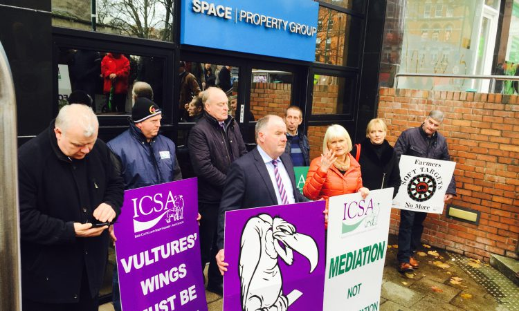 Farmer protest calls for 'unity against vulture funds' in Dublin