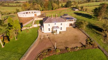 18th century Georgian house and 67ac for sale in 2 lots