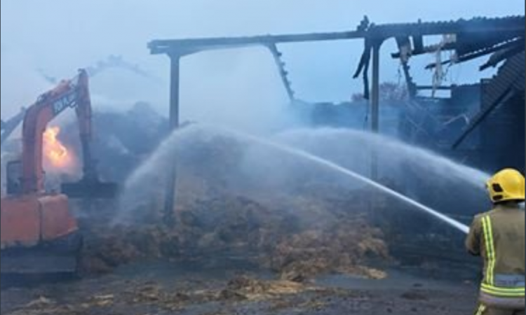 3-day hay shed burn-out in UK 'caused deliberately'