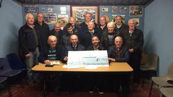 Armagh vintage club presents cheque for £4,800 to charity