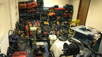 Machinery and tools recovered following Garda raid