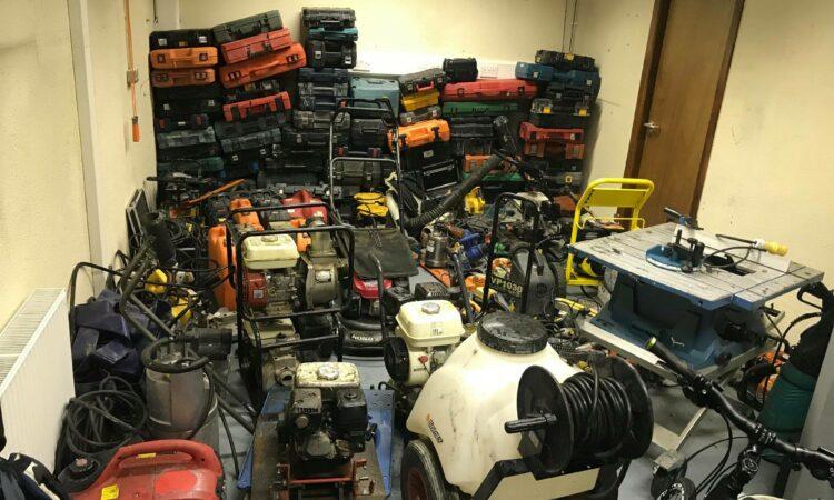 Machinery and tools recovered following Garda raid