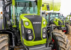 How many new tractors were registered in NI last year?