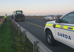 Tractor pulled off motorway for not going fast enough