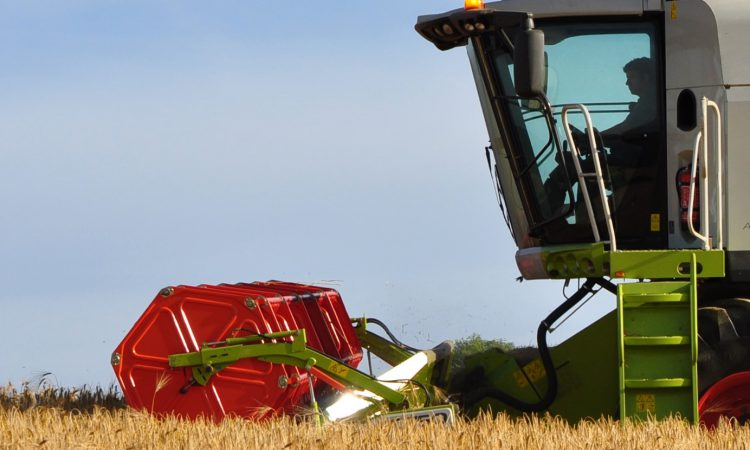 Which brands come top of the UK combine harvester market?