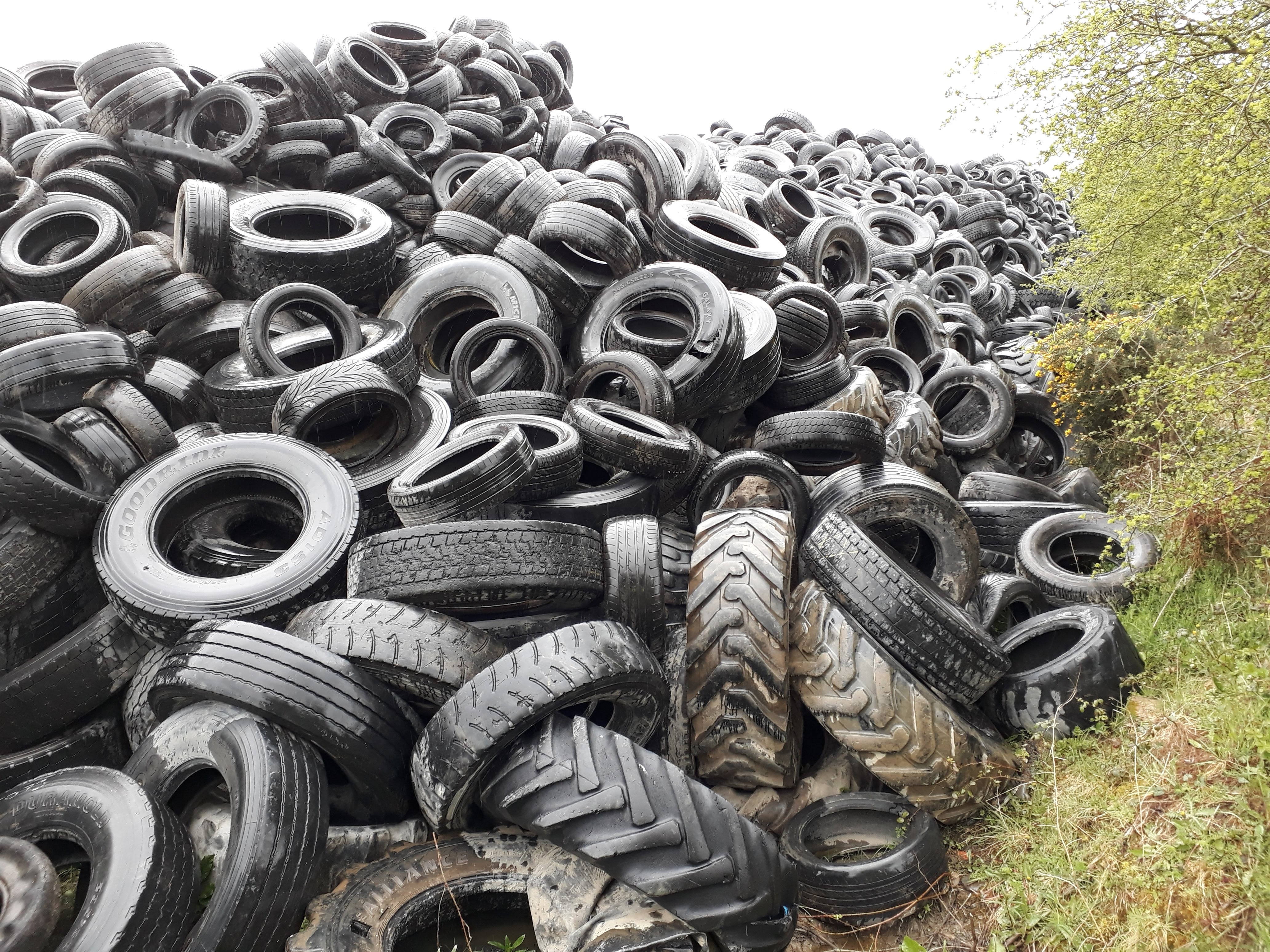 How can I safely dispose of tyres, plastics and hazardous