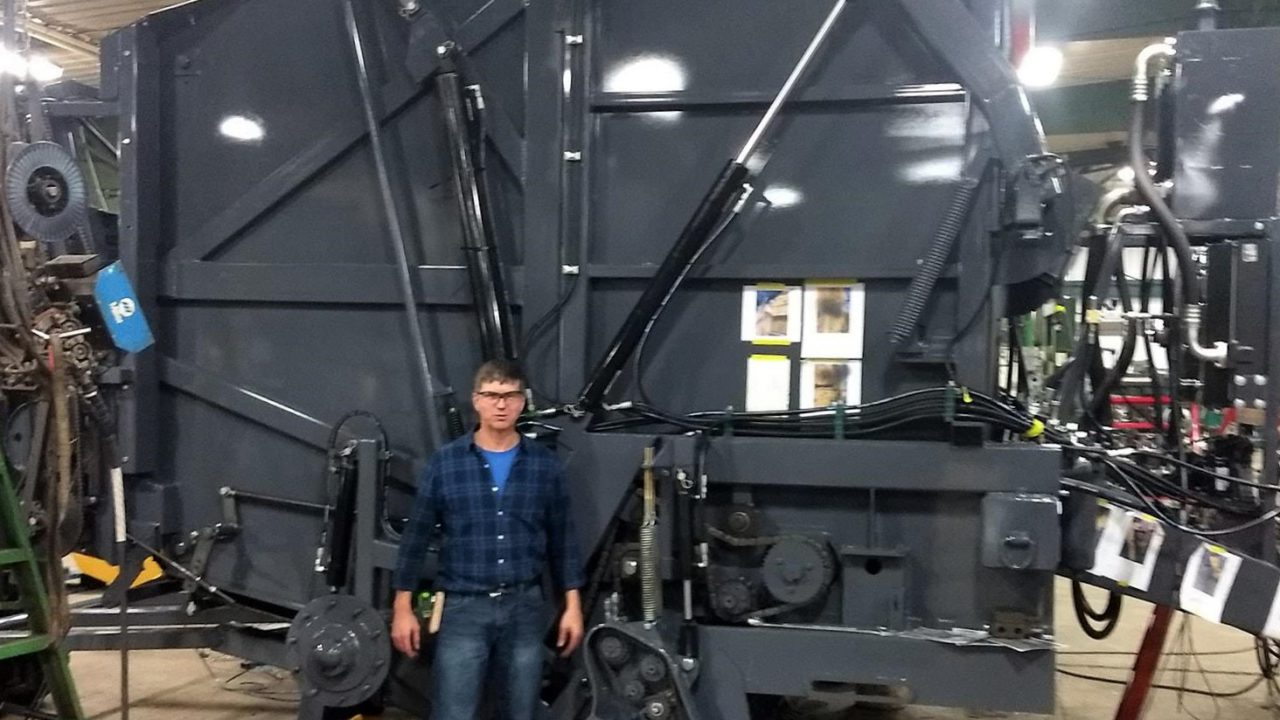 'World's biggest' round baler makes its first 9ft X 9ft bale