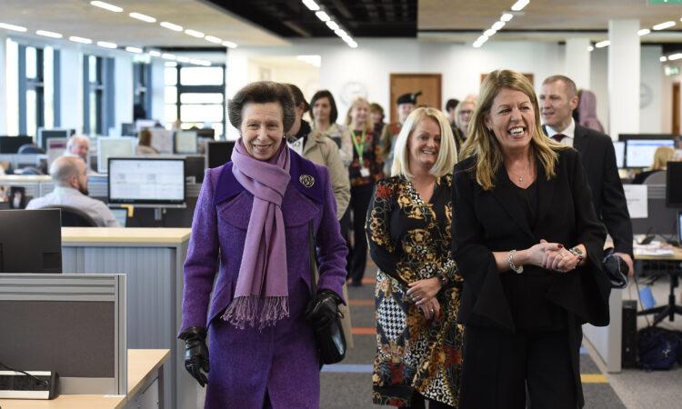 HRH The Princess Royal visits Ballykelly House