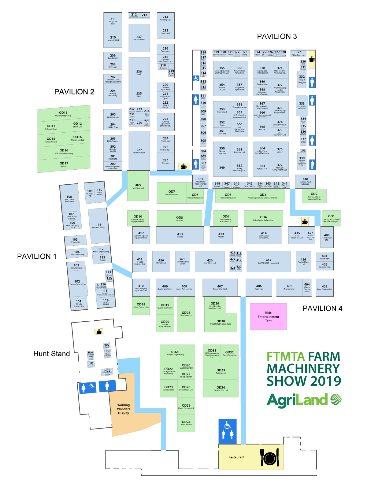Map Find Your Way Around The Ftmta Farm Machinery Show Agriland Ie