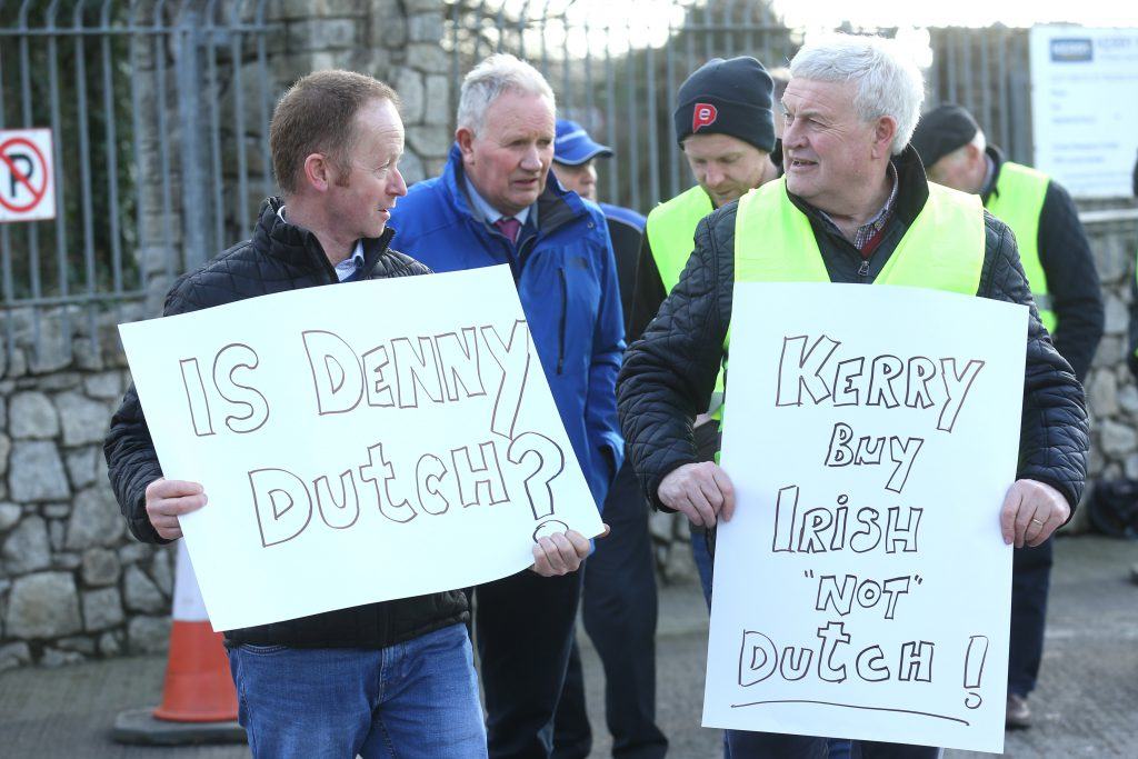 IFA stages country-of-origin protest outside Kerry Foods