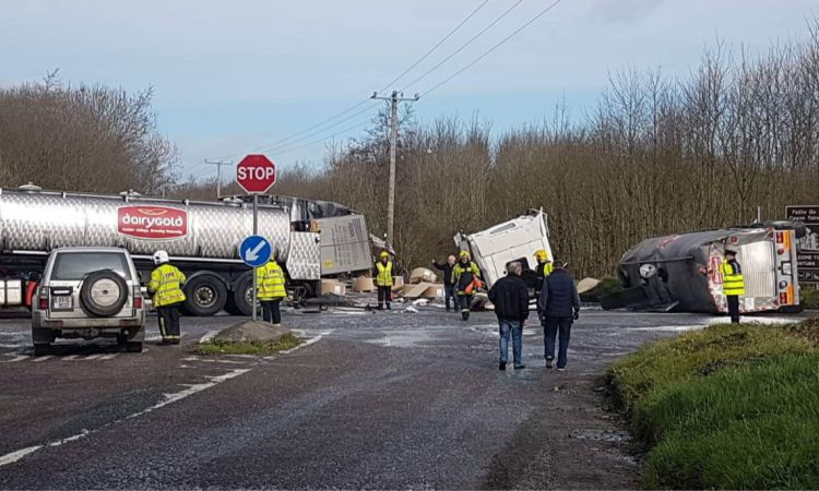 Man rushed to hospital following Dairygold lorry collision