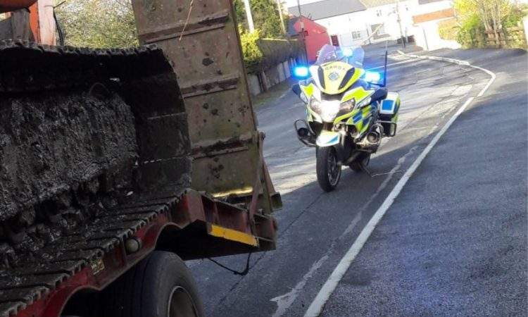 Tractor 'stopped in its tracks' for unsecured load