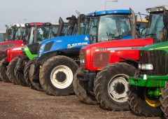 How many second-hand tractors were imported into Ireland last year?