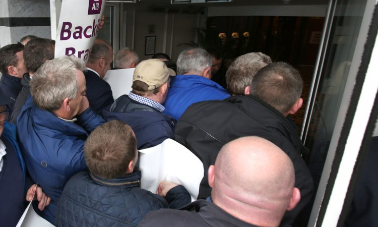 Security worker injured during IFA loan sale protest in Dublin