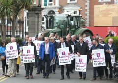 Farmers descend on AIB's AGM in Ballsbridge
