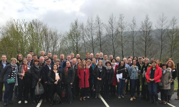 EU delegation visits Wicklow uplands to see  the SUAS project