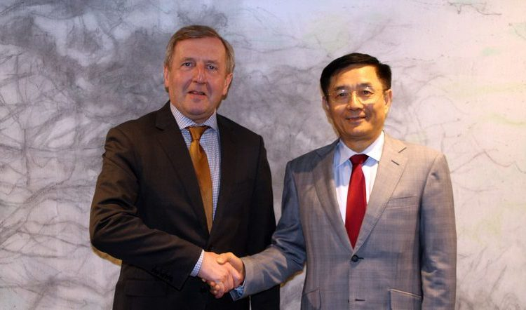 Creed pays tribute to Chinese ambassador ahead of trade mission