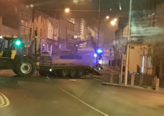 Tractor and digger involved in double Kells bank robbery