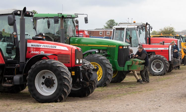 Auction report: Sharp-looking tractors sell at 'on-site' sale, but for how much?