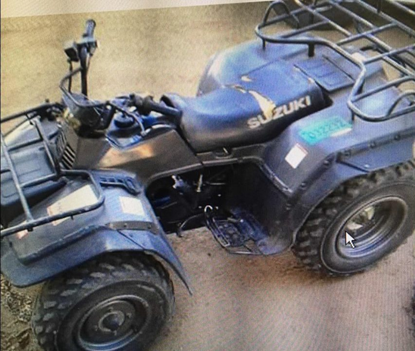 Appeal for information issued following theft of quad