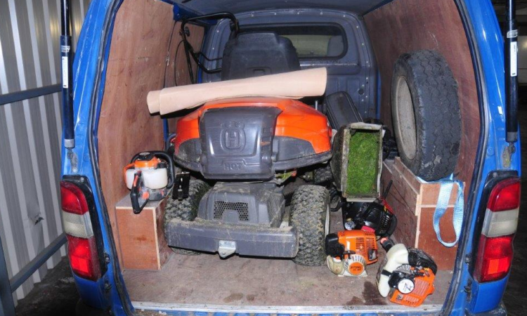 Stolen lawnmowers, strimmers and chainsaws recovered in Athy