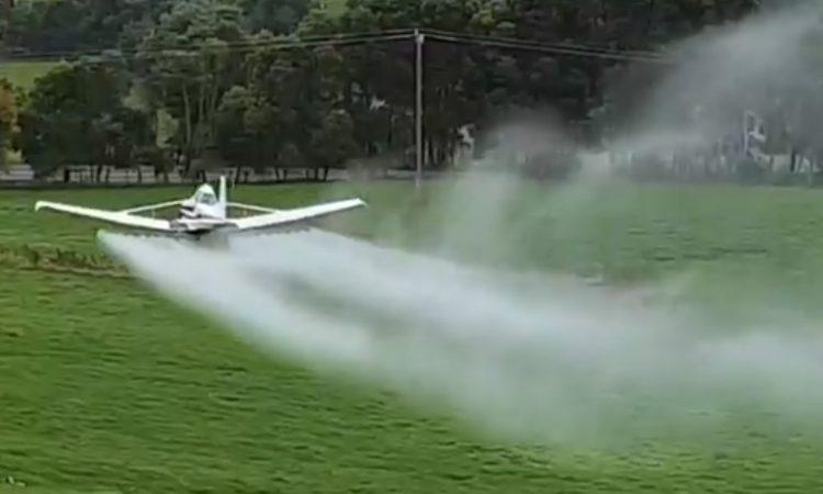 Spreading from the skies: Farmer tries alternative aerial approach