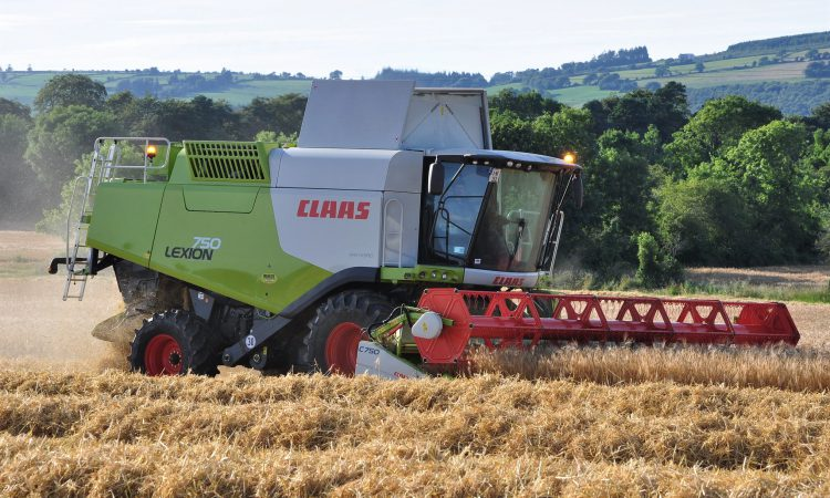 What's the top-selling combine harvester in Ireland this year?