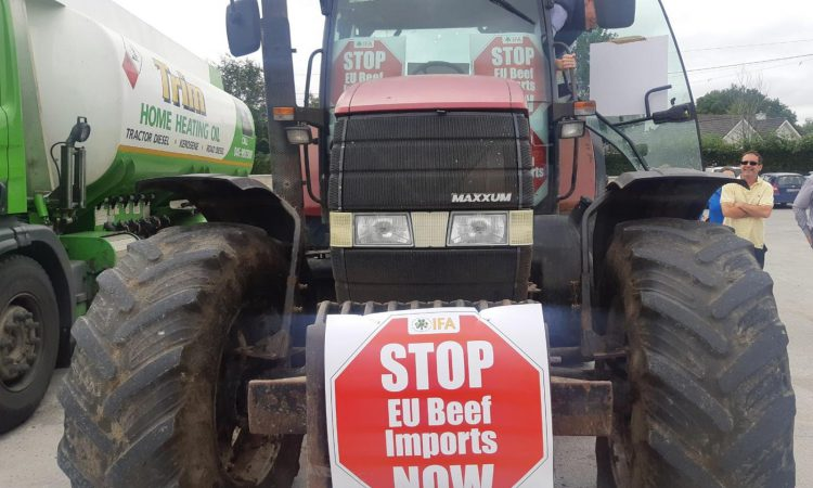'Stop beef import scandal' – IFA protest gets underway