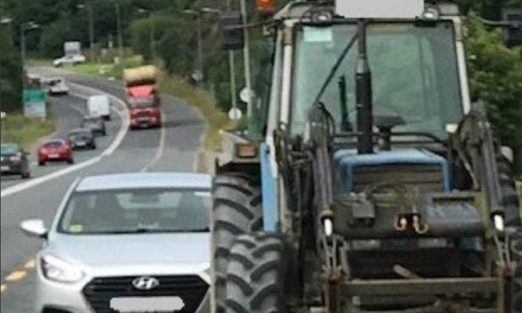 Oil leak puts tractor driver on 'slippery slope' with Gardaí