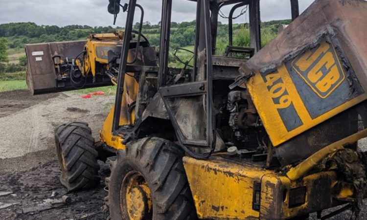JCB burn-out prompts machinery fire warning