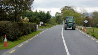 Tractor driver sought following traffic collision