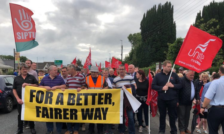 Employee tells protest he feels 'very let down' by Bord na Móna's actions