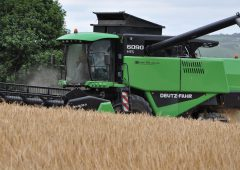 What's the contractor charge-out rate for combine harvesting?
