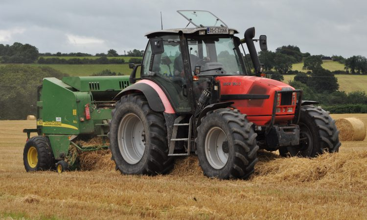 What's the contractor charge-out rate for baling straw?