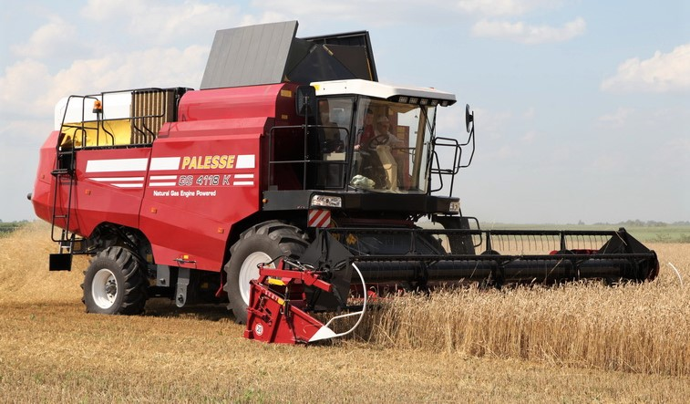Gas-powered combine harvester hits the market