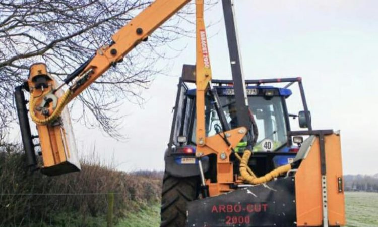 Hedge-cutter stolen from low-loader in farmyard