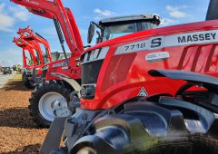 How many new tractors are being sold across Europe?