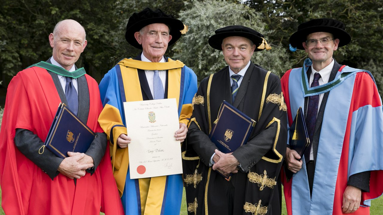 UCD awards Honorary Doctor of Science to former Mountbellew principal