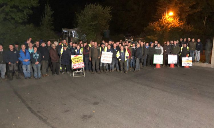 Crowds attend Clones picket while protest resumes in Slane