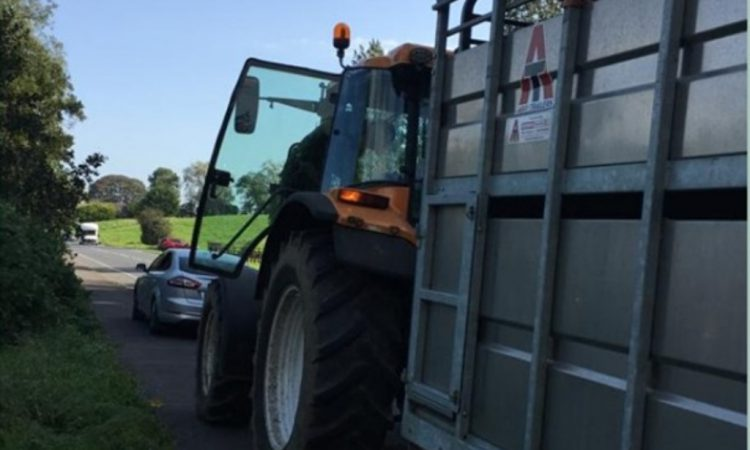 Checkpoint challenge for tractor driver on call