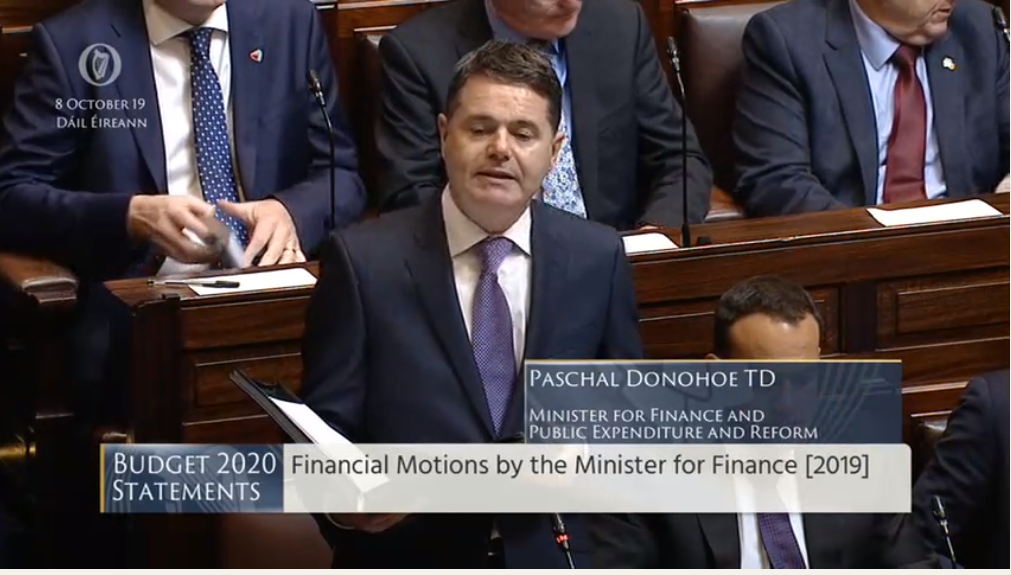 Budget 2020: €650 million for agriculture, enterprise and tourism in no-deal Brexit