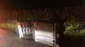 Diesel wash waste discovered dumped on roadside