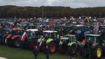 Around 400 tractors descend on Dutch capital to protest 'negative image'